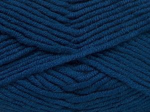 Fiber Content 50% Merino Wool, 50% Acrylic, Brand Ice Yarns, Dark Blue, Yarn Thickness 5 Bulky  Chunky, Craft, Rug, fnt2-65970