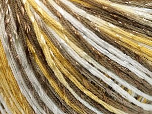 Fiber Content 70% Mercerised Cotton, 30% Viscose, White, Brand Ice Yarns, Gold, Camel, Yarn Thickness 2 Fine  Sport, Baby, fnt2-65998
