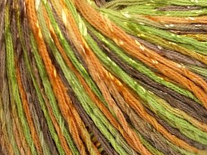 Fiber Content 70% Mercerised Cotton, 30% Viscose, Brand Ice Yarns, Green, Gold, Camel, Yarn Thickness 2 Fine  Sport, Baby, fnt2-66001