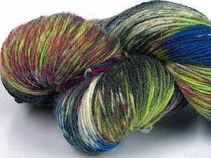 Please note that this is a hand-dyed yarn. Colors in different lots may vary because of the charateristics of the yarn. Also see the package photos for the colorway in full; as skein photos may not show all colors. Fiber Content 75% Super Wash Wool, 25% Polyamide, Brand Ice Yarns, Green Shades, Burgundy, Blue, Yarn Thickness 1 SuperFine  Sock, Fingering, Baby, fnt2-66017