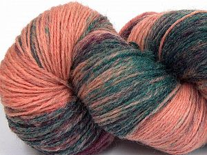 Please note that this is a hand-dyed yarn. Colors in different lots may vary because of the charateristics of the yarn. Also see the package photos for the colorway in full; as skein photos may not show all colors. Fiber Content 75% Super Wash Wool, 25% Polyamide, Salmon Shades, Brand Ice Yarns, Dark Green, Yarn Thickness 1 SuperFine  Sock, Fingering, Baby, fnt2-66022