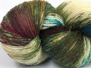 Please note that this is a hand-dyed yarn. Colors in different lots may vary because of the charateristics of the yarn. Also see the package photos for the colorway in full; as skein photos may not show all colors. Fiber Content 75% Super Wash Wool, 25% Polyamide, Turquoise, Brand Ice Yarns, Green Shades, Cream, Brown Shades, Yarn Thickness 1 SuperFine  Sock, Fingering, Baby, fnt2-66023