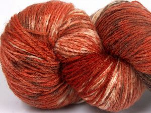Please note that this is a hand-dyed yarn. Colors in different lots may vary because of the charateristics of the yarn. Also see the package photos for the colorway in full; as skein photos may not show all colors. Fiber Content 75% Super Wash Wool, 25% Polyamide, Brand Ice Yarns, Cream, Copper, Brown Shades, Yarn Thickness 1 SuperFine  Sock, Fingering, Baby, fnt2-66027