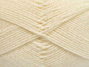 Fiber Content 94% Acrylic, 6% Metallic Lurex, Brand Ice Yarns, Cream, Yarn Thickness 3 Light  DK, Light, Worsted, fnt2-66061