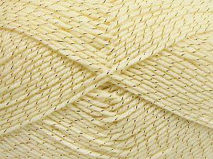 Fiber Content 94% Acrylic, 6% Metallic Lurex, Brand Ice Yarns, Dark Cream, Yarn Thickness 3 Light  DK, Light, Worsted, fnt2-66062