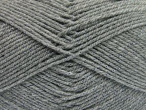 Fiber Content 94% Acrylic, 6% Metallic Lurex, Brand Ice Yarns, Grey, Yarn Thickness 3 Light  DK, Light, Worsted, fnt2-66064