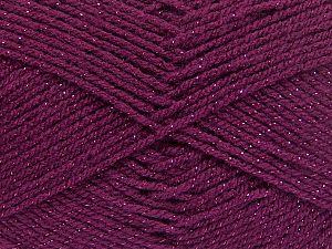 Fiber Content 94% Acrylic, 6% Metallic Lurex, Brand Ice Yarns, Burgundy, Yarn Thickness 3 Light  DK, Light, Worsted, fnt2-66071