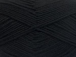 Fiber Content 60% Merino Wool, 40% Acrylic, Brand Ice Yarns, Black, Yarn Thickness 3 Light  DK, Light, Worsted, fnt2-66072