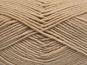Fiber Content 60% Merino Wool, 40% Acrylic, Brand Ice Yarns, Beige, Yarn Thickness 3 Light  DK, Light, Worsted, fnt2-66075