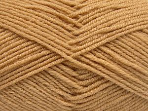 Fiber Content 60% Merino Wool, 40% Acrylic, Light Camel, Brand Ice Yarns, Yarn Thickness 3 Light  DK, Light, Worsted, fnt2-66076
