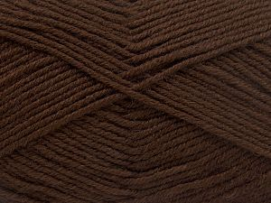 Fiber Content 60% Merino Wool, 40% Acrylic, Brand Ice Yarns, Dark Brown, Yarn Thickness 3 Light  DK, Light, Worsted, fnt2-66078