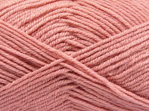 Fiber Content 60% Merino Wool, 40% Acrylic, Powder Pink, Brand Ice Yarns, Yarn Thickness 3 Light  DK, Light, Worsted, fnt2-66091