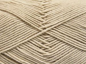 Fiber Content 50% Cotton, 50% Acrylic, Light Beige, Brand Ice Yarns, Yarn Thickness 2 Fine  Sport, Baby, fnt2-66100