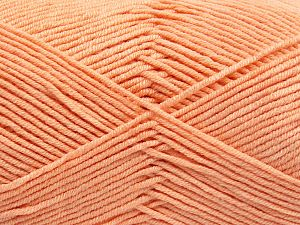 Fiber Content 50% Cotton, 50% Acrylic, Light Salmon, Brand Ice Yarns, Yarn Thickness 2 Fine  Sport, Baby, fnt2-66105