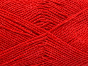Fiber Content 50% Cotton, 50% Acrylic, Red, Brand Ice Yarns, Yarn Thickness 2 Fine  Sport, Baby, fnt2-66111