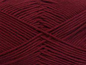 Fiber Content 50% Acrylic, 50% Cotton, Brand Ice Yarns, Burgundy, Yarn Thickness 2 Fine  Sport, Baby, fnt2-66113