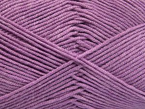 Fiber Content 50% Acrylic, 50% Cotton, Lilac, Brand Ice Yarns, Yarn Thickness 2 Fine  Sport, Baby, fnt2-66114