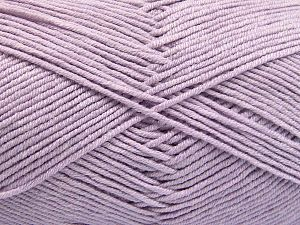 Fiber Content 50% Acrylic, 50% Cotton, Light Lilac, Brand Ice Yarns, Yarn Thickness 2 Fine  Sport, Baby, fnt2-66115