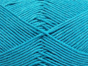 Fiber Content 50% Cotton, 50% Acrylic, Turquoise, Brand Ice Yarns, Yarn Thickness 2 Fine  Sport, Baby, fnt2-66125