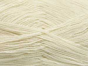 Very thin yarn. It is spinned as two threads. So you will knit as two threads. Yardage information is for only one strand. Fiber Content 100% Acrylic, Light Beige, Brand Ice Yarns, Yarn Thickness 1 SuperFine  Sock, Fingering, Baby, fnt2-66128