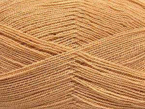 Very thin yarn. It is spinned as two threads. So you will knit as two threads. Yardage information is for only one strand. Fiber Content 100% Acrylic, Milky Brown, Brand Ice Yarns, Yarn Thickness 1 SuperFine  Sock, Fingering, Baby, fnt2-66132