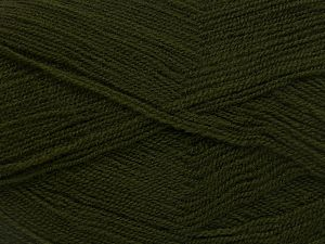 Very thin yarn. It is spinned as two threads. So you will knit as two threads. Yardage information is for only one strand. Fiber Content 100% Acrylic, Brand Ice Yarns, Dark Khaki, Yarn Thickness 1 SuperFine  Sock, Fingering, Baby, fnt2-66138
