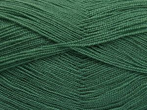 Very thin yarn. It is spinned as two threads. So you will knit as two threads. Yardage information is for only one strand. Fiber Content 100% Acrylic, Mint Green, Brand Ice Yarns, Dark Mint Green, Yarn Thickness 1 SuperFine  Sock, Fingering, Baby, fnt2-66141