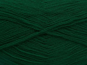Very thin yarn. It is spinned as two threads. So you will knit as two threads. Yardage information is for only one strand. Fiber Content 100% Acrylic, Brand Ice Yarns, Dark Emerald Green, Yarn Thickness 1 SuperFine  Sock, Fingering, Baby, fnt2-66143
