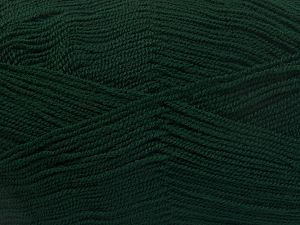 Very thin yarn. It is spinned as two threads. So you will knit as two threads. Yardage information is for only one strand. Fiber Content 100% Acrylic, Brand Ice Yarns, Dark Green, Yarn Thickness 1 SuperFine  Sock, Fingering, Baby, fnt2-66144