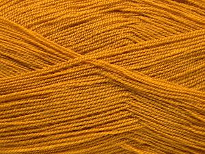 Very thin yarn. It is spinned as two threads. So you will knit as two threads. Yardage information is for only one strand. Fiber Content 100% Acrylic, Brand Ice Yarns, Dark Gold, Yarn Thickness 1 SuperFine  Sock, Fingering, Baby, fnt2-66150