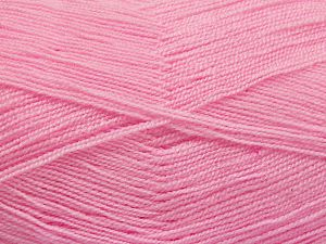 Very thin yarn. It is spinned as two threads. So you will knit as two threads. Yardage information is for only one strand. Fiber Content 100% Acrylic, Brand Ice Yarns, Baby Pink, Yarn Thickness 1 SuperFine  Sock, Fingering, Baby, fnt2-66165