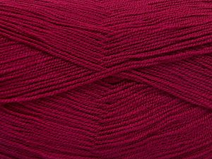 Very thin yarn. It is spinned as two threads. So you will knit as two threads. Yardage information is for only one strand. Fiber Content 100% Acrylic, Brand Ice Yarns, Fuchsia, Yarn Thickness 1 SuperFine  Sock, Fingering, Baby, fnt2-66169