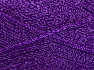 Very thin yarn. It is spinned as two threads. So you will knit as two threads. Yardage information is for only one strand. Fiber Content 100% Acrylic, Lilac, Brand Ice Yarns, Yarn Thickness 1 SuperFine  Sock, Fingering, Baby, fnt2-66173