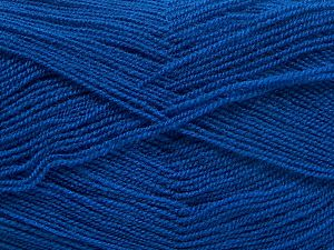 Very thin yarn. It is spinned as two threads. So you will knit as two threads. Yardage information is for only one strand. Fiber Content 100% Acrylic, Royal Blue, Brand Ice Yarns, Yarn Thickness 1 SuperFine  Sock, Fingering, Baby, fnt2-66178