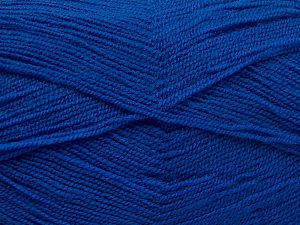 Very thin yarn. It is spinned as two threads. So you will knit as two threads. Yardage information is for only one strand. Fiber Content 100% Acrylic, Brand Ice Yarns, Blue, Yarn Thickness 1 SuperFine  Sock, Fingering, Baby, fnt2-66180