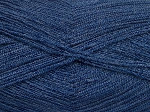 Very thin yarn. It is spinned as two threads. So you will knit as two threads. Yardage information is for only one strand. Fiber Content 100% Acrylic, Jeans Blue, Brand Ice Yarns, Yarn Thickness 1 SuperFine  Sock, Fingering, Baby, fnt2-66181