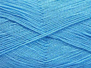 Very thin yarn. It is spinned as two threads. So you will knit as two threads. Yardage information is for only one strand. Fiber Content 100% Acrylic, Light Blue, Brand Ice Yarns, Yarn Thickness 1 SuperFine  Sock, Fingering, Baby, fnt2-66182