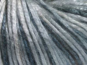 Tencel (Lyocell) is a form of rayon that consists of cellulose fiber made from beech and eucalyptus trees. Main characteristics of lyocell fibers are that they are sustainable, soft, absorbent, very strong when wet or dry, and resistant to wrinkles. Fiber Content 67% Tencel, 33% Polyamide, Light Blue, Brand Ice Yarns, Grey Shades, Yarn Thickness 4 Medium  Worsted, Afghan, Aran, fnt2-66205