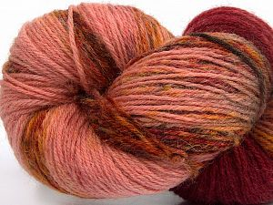 Please note that this is a hand-dyed yarn. Colors in different lots may vary because of the charateristics of the yarn. Also see the package photos for the colorway in full; as skein photos may not show all colors. Fiber Content 75% Super Wash Wool, 25% Polyamide, Rose Brown, Light Pink, Brand Ice Yarns, Gold, Burgundy Shades, Yarn Thickness 1 SuperFine  Sock, Fingering, Baby, fnt2-66268