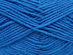 Fiber Content 60% Merino Wool, 40% Acrylic, Brand Ice Yarns, Blue, Yarn Thickness 2 Fine  Sport, Baby, fnt2-66541
