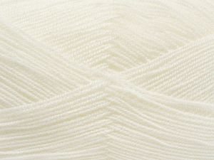 Very thin yarn. It is spinned as two threads. So you will knit as two threads. Yardage information is for only one strand. Fiber Content 100% Acrylic, White, Brand Ice Yarns, Yarn Thickness 1 SuperFine  Sock, Fingering, Baby, fnt2-66550