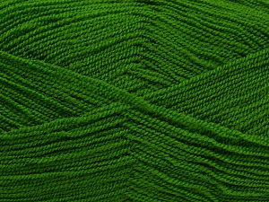Very thin yarn. It is spinned as two threads. So you will knit as two threads. Yardage information is for only one strand. Fiber Content 100% Acrylic, Brand Ice Yarns, Green, Yarn Thickness 1 SuperFine  Sock, Fingering, Baby, fnt2-66552