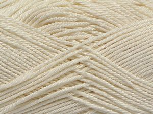 Fiber Content 100% Mercerised Cotton, Off White, Brand Ice Yarns, Yarn Thickness 2 Fine  Sport, Baby, fnt2-66560