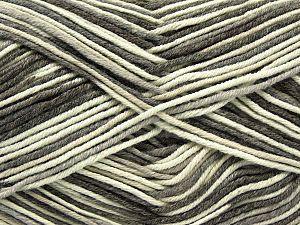 Fiber Content 50% Cotton, 50% Acrylic, Brand Ice Yarns, Grey, Cream, Camel, Yarn Thickness 2 Fine  Sport, Baby, fnt2-66574