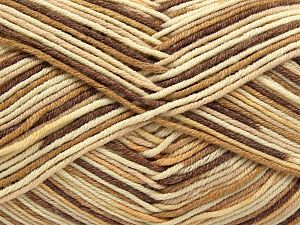 Fiber Content 50% Cotton, 50% Acrylic, Brand Ice Yarns, Cream, Camel, Brown, Yarn Thickness 2 Fine  Sport, Baby, fnt2-66575