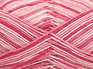 Fiber Content 50% Acrylic, 50% Cotton, Pink Shades, Brand Ice Yarns, Yarn Thickness 2 Fine  Sport, Baby, fnt2-66576