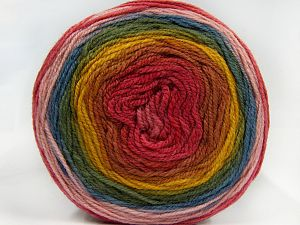 Fiber Content 70% Premium Acrylic, 30% Wool, Pink Shades, Brand Ice Yarns, Green, Gold, Blue, Yarn Thickness 3 Light  DK, Light, Worsted, fnt2-66605