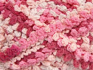 Fiber Content 50% Acrylic, 50% Polyamide, White, Pink Shades, Brand Ice Yarns, Yarn Thickness 6 SuperBulky  Bulky, Roving, fnt2-66617