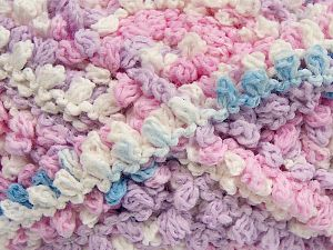 Fiber Content 50% Acrylic, 50% Polyamide, White, Light Pink, Light Lilac, Light Blue, Brand Ice Yarns, Yarn Thickness 6 SuperBulky  Bulky, Roving, fnt2-66619