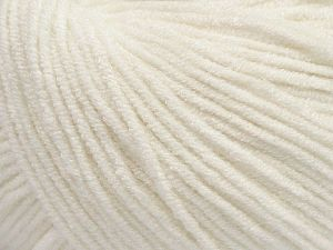 Modal is a type of yarn which is mixed with the silky type of fiber. It is derived from the beech trees. Fiber Content 55% Modal, 45% Acrylic, Off White, Brand Ice Yarns, Yarn Thickness 3 Light  DK, Light, Worsted, fnt2-66686